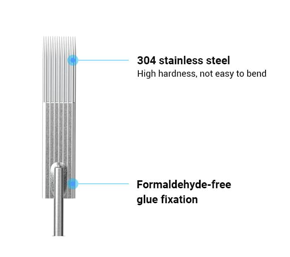the best quality of stainless steel rhein tattoo needle use