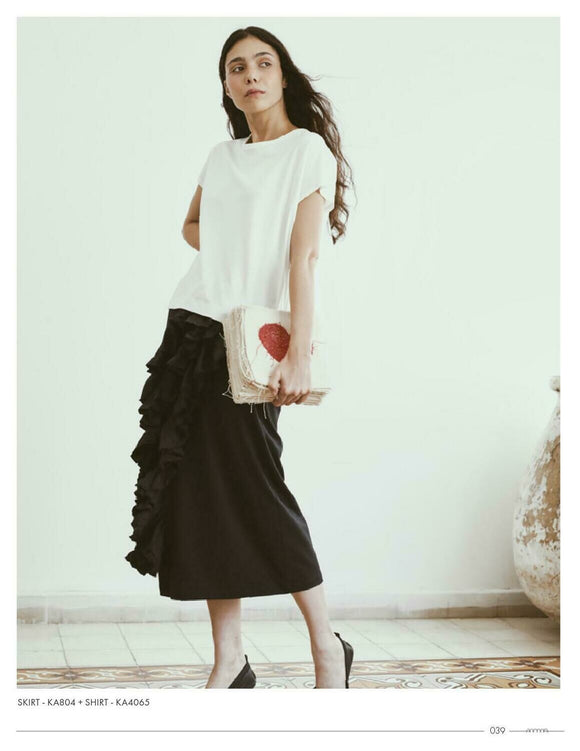 Ruffle Pencil Skirt