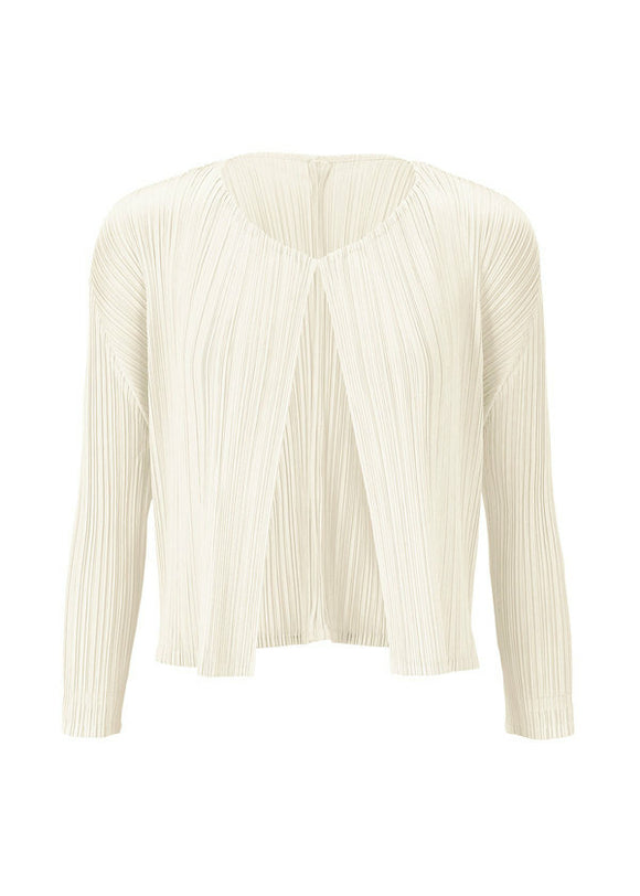 Pleats Please by Issey Miyake White Cardigan