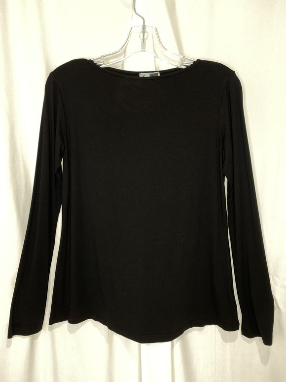 Long Sleeve Basic Tee Black