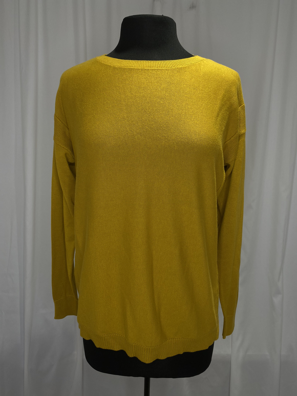 Elliot Lauren Mustard Cotton Sweater