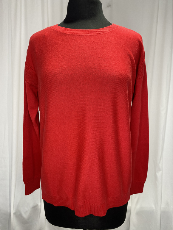Elliot Lauren Red Cotton Sweater