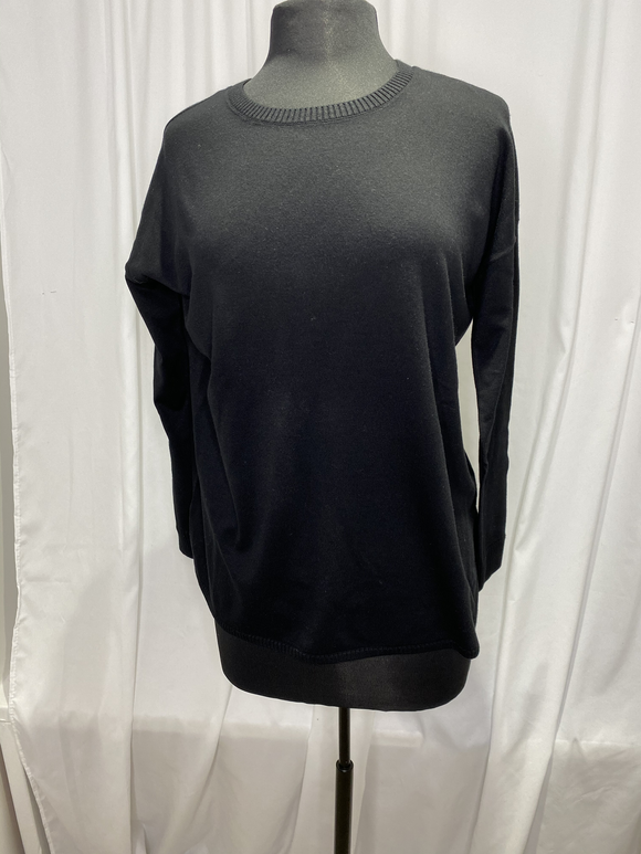 Elliot Lauren Black Cotton Sweater