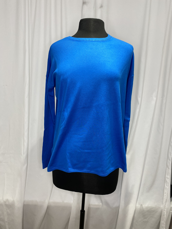 Elliot Lauren Blue Cotton Sweater
