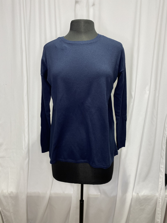 Elliot Lauren Navy Cotton Sweater