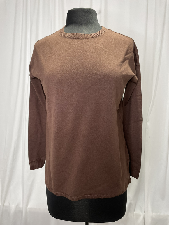 Elliot Lauren Brown Cotton Sweater