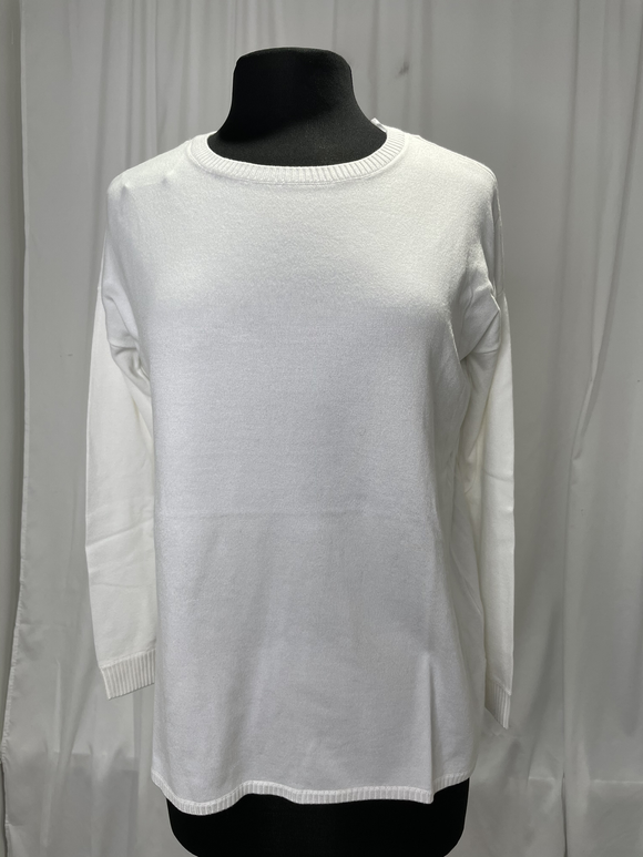 Elliot Lauren White Cotton Sweater