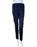 Elliot Lauren Navy Pull On Pant with Back Slit Detail
