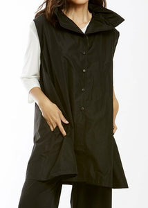 MSquare Scrunched Collar Vest