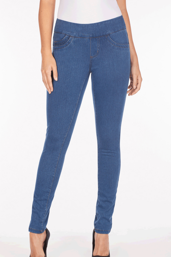 Love Denim Blue Pull On Slim Jegging