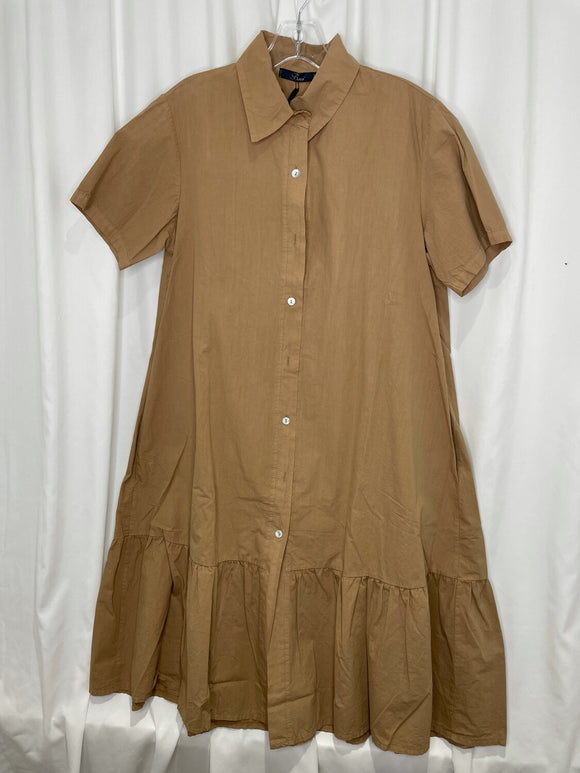 Cotton Button Up Dress