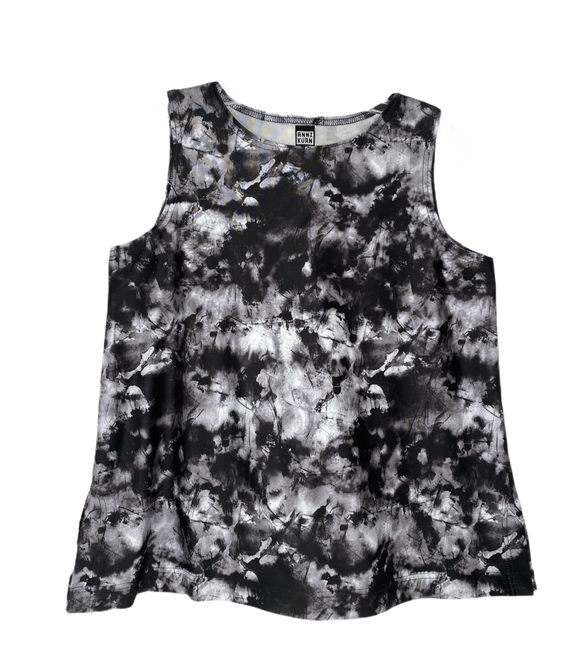Black And White Watercolor Tank