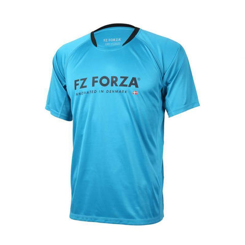 FZ Forza Bling Mens Badminton T-Shirt (Blue)