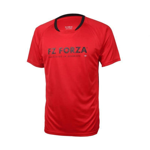 FZ Forza Bling Mens Badminton T-Shirt (Red)