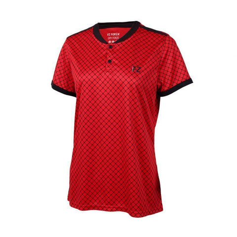 FZ Forza Brooklyn Womens Badminton T-Shirt (Red)
