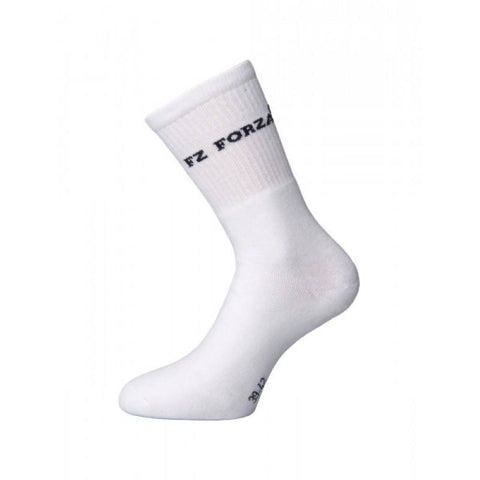 FZ Forza Comfort Badminton Socks - 1 Pair (White)