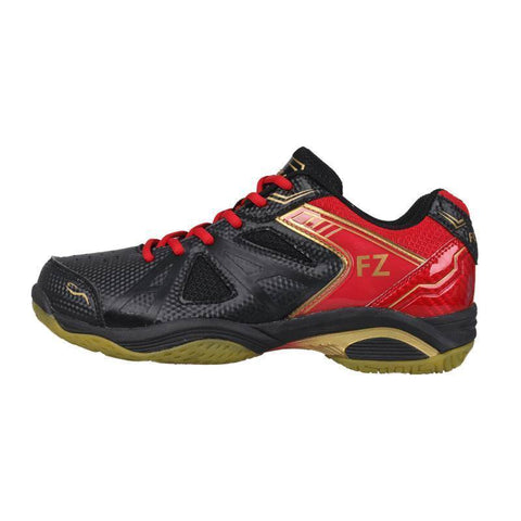 FZ Forza Extremely Mens Badminton Shoes (Black-Red)