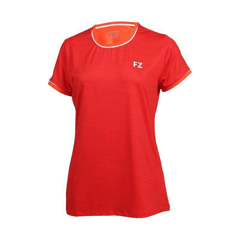 FZ Forza Hayle Womens Badminton T-Shirt (Red)