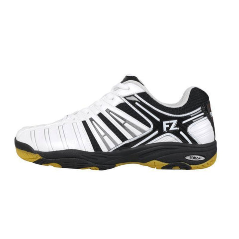 FZ Forza Leander M Mens Badminton Shoes (White-Black)