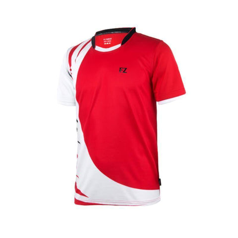 FZ Forza Marc Junior Badminton T-Shirt (Red)