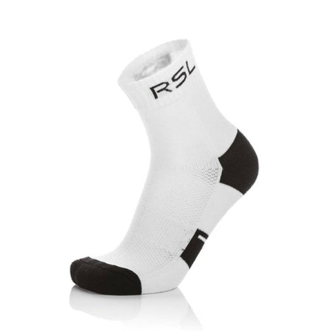 RSL Badminton Socks - 1 Pair (White-Black)
