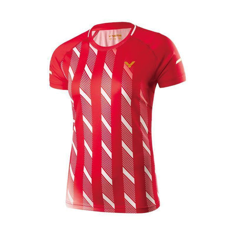 Victor 6609 Womens Badminton T-Shirt (Red)