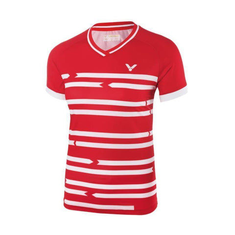 Victor 6618 Womens Badminton T-Shirt (Red)