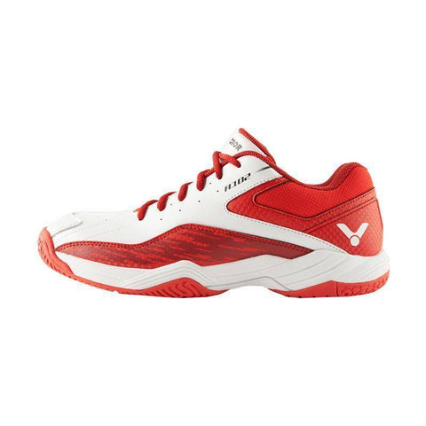 Victor A102 AD Junior Badminton Shoes (Red-White)