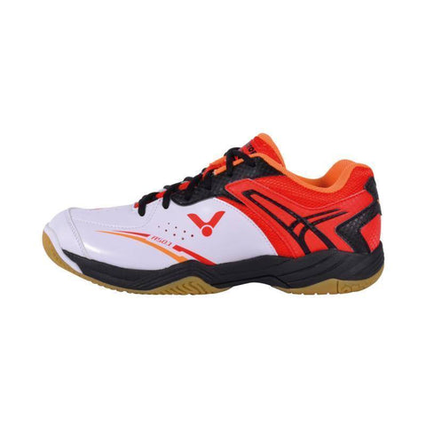 Victor A501 Mens Badminton Shoes (White-Red)