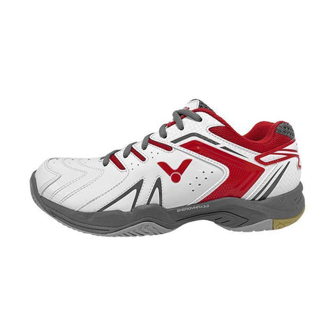 Victor A610 II Junior Badminton Shoes (White-Red)