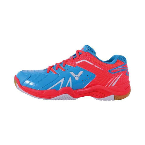 Victor A610F II Junior Badminton Shoes (Blue-Pink)