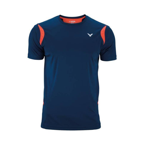 Victor Function 6918 Junior Badminton T-Shirt (Coral-Navy blue)