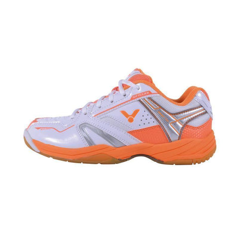 Victor SH-A320L Womens Badminton Shoes (White-Orange)
