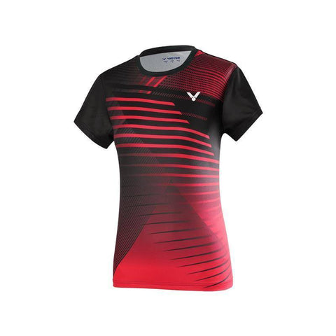 Victor T-01001TD C Womens Badminton T-Shirt (Red)