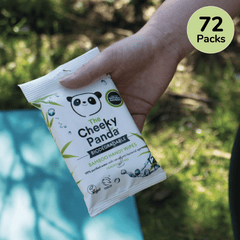 Biodegradable Handy Wipes Bulk Box | 72 Packs - The Cheeky Panda UK