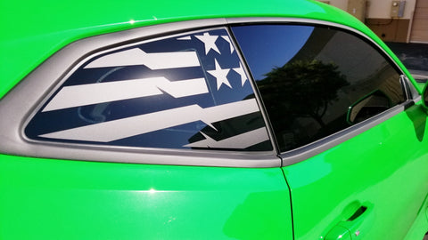 16+ Camaro Gymkhana Quarter Window Flag Decal