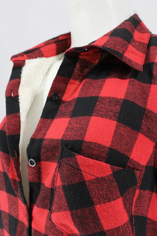 Sherpa lined plaid flannel