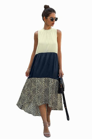 Navy animal print, high neck