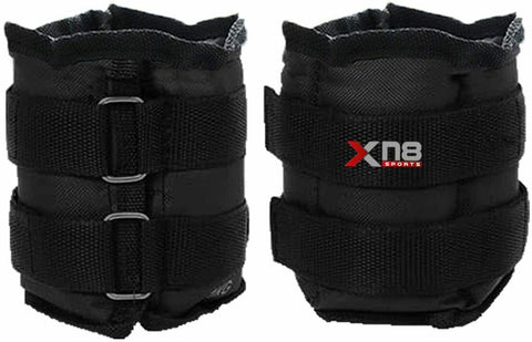 XN8 Ankle Weights 0.5kg-5kg leg Wrist Straps Set Running Fitness Gym Training UK