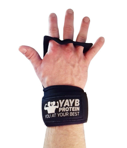 YAYB Protein Open Gloves (pair) + 300ml Super Grip Liquid Chalk