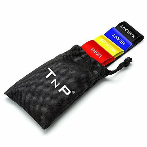 TnP 4PCS Resistance Bands Set Exercise Loop Band Leg Yoga Gym Stretching Pilates (Multi)