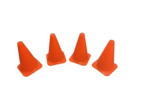 12x Plastic Sports Marker Cones Agility Football Pitch Training Exercise Fitness