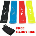 TnP 4PCS Resistance Bands Set Exercise Loop Band Leg Yoga Gym Stretching Pilates