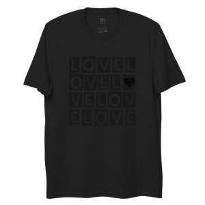 """LOVE LOVE LOVE"" BLACKOUT RECYCLED TEE"