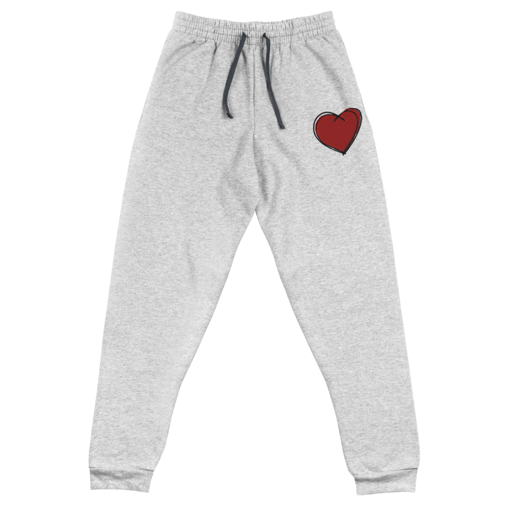 """RED HEART"" EMBROIDERED JOGGERS"
