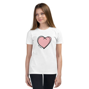"PINK ""BE KIND"" HEART KIDS TEE"