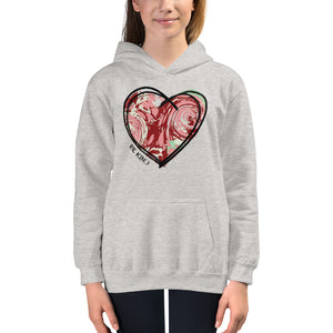 "MARBLE HEART ""BE KIND"" KIDS HOODIE"