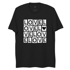 """LOVE LOVE LOVE"" RECYCLED TEE"