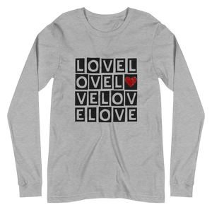 """LOVE LOVE LOVE"" LONG SLEEVE TEE"