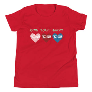 """OWN YOUR HAPPY"" KIDS TEE"